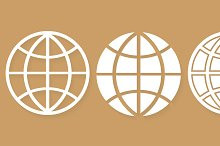 Set different icons world globe