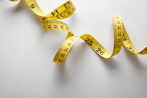Yellow tape measure background