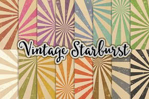 Starburst Patterns on Vintage Paper