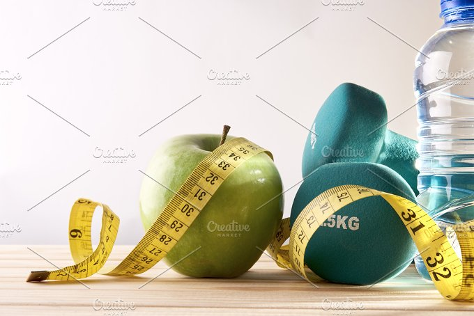 Lifestyle health diet and sports isolated background front view.jpg - Health