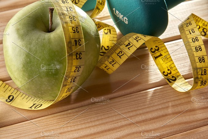 Sport and nutrition concept on wood elevated view.jpg - Health