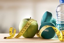 Lifestyle health diet and sports gym background front view.jpg