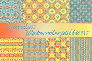20 sealmess watercolor patterns