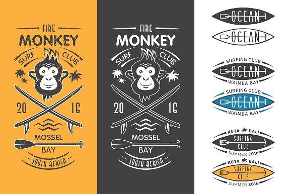 Fire Monkey surfing club emblem