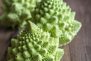 Fresh romanesco broccoli
