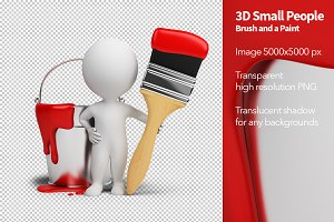 3D Small People - Brush and a Paint