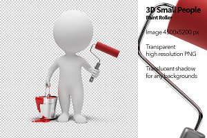 3D Small People - Paint Roller