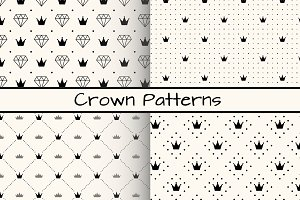 4 Monochrome Crown Patterns
