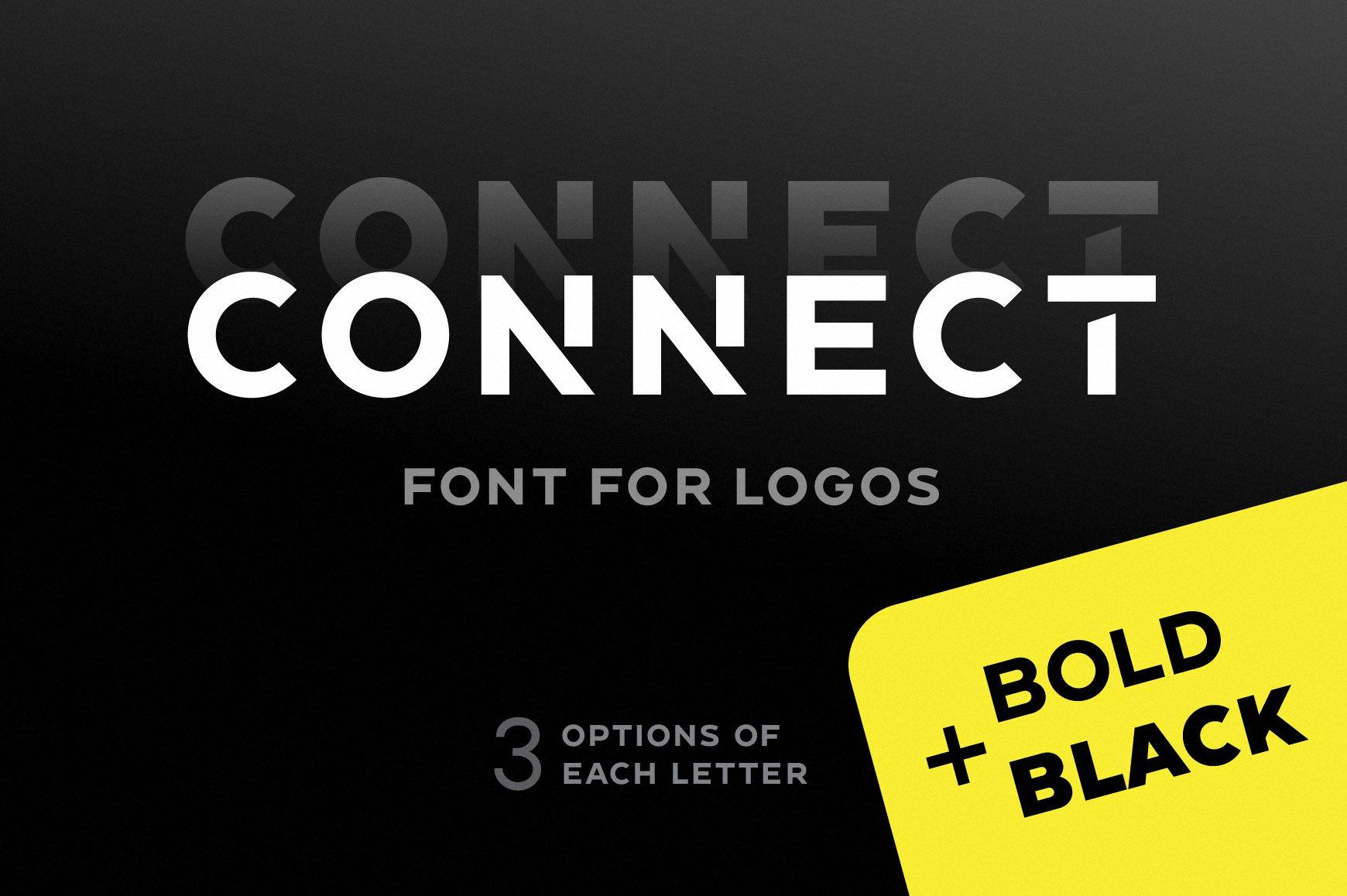 Connect-Bold-Logo-Font-www.mockuphill.com