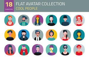 Flat Avatar Collection. Cool People
