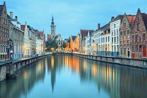 Bruges at twilight