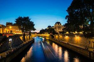 River Seine Sunset, Paris
