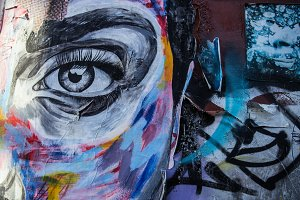 Urban Street Art Eye