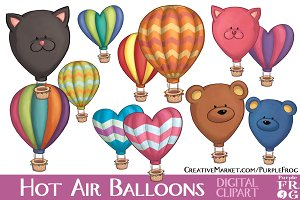 HOT AIR BALLOONS - Digital Clipart