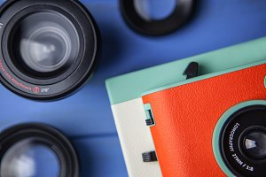 Retro camera and lenses