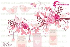 Clipart Wedding Decor AMB-979