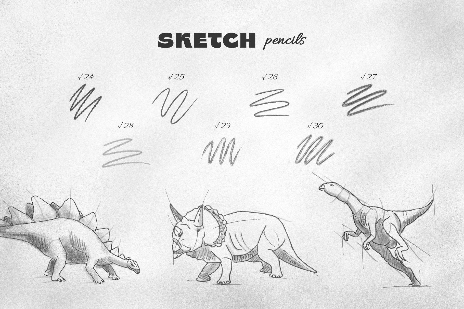 6 pencil brushes 6