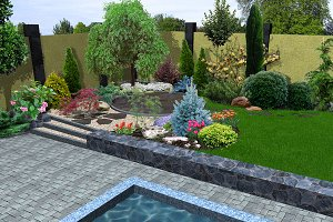 Landscape design plant groupings