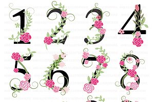 Clipart Numbers in Black, AMB-868