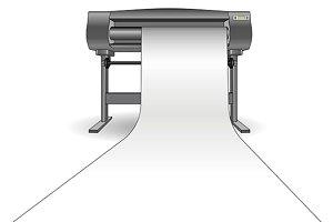 CMYK Plotter inkjet printer