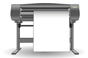 Plotter inkjet printer