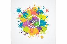 Colorful Drop Blot Background.