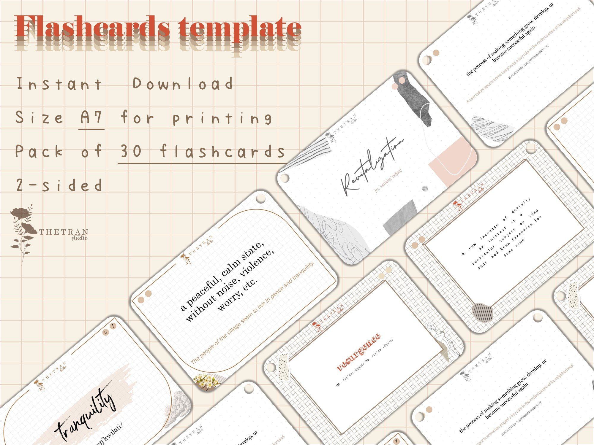 [Bujo] Flashcards Envelope Template With Cue Card Template
