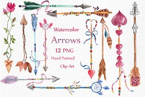 Watercolor arrows