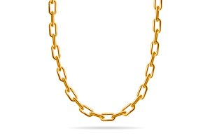 Gold Chain Jewelry. Vector