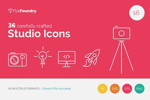 50% OFF 36 Creative Studio Icons