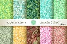 10 Ornate Seamless Florals. Set #2