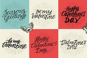Lettering set Valentine's Day