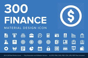 300 Finance Material Design Icons