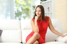 Fashion housewife woman posing at home.jpg