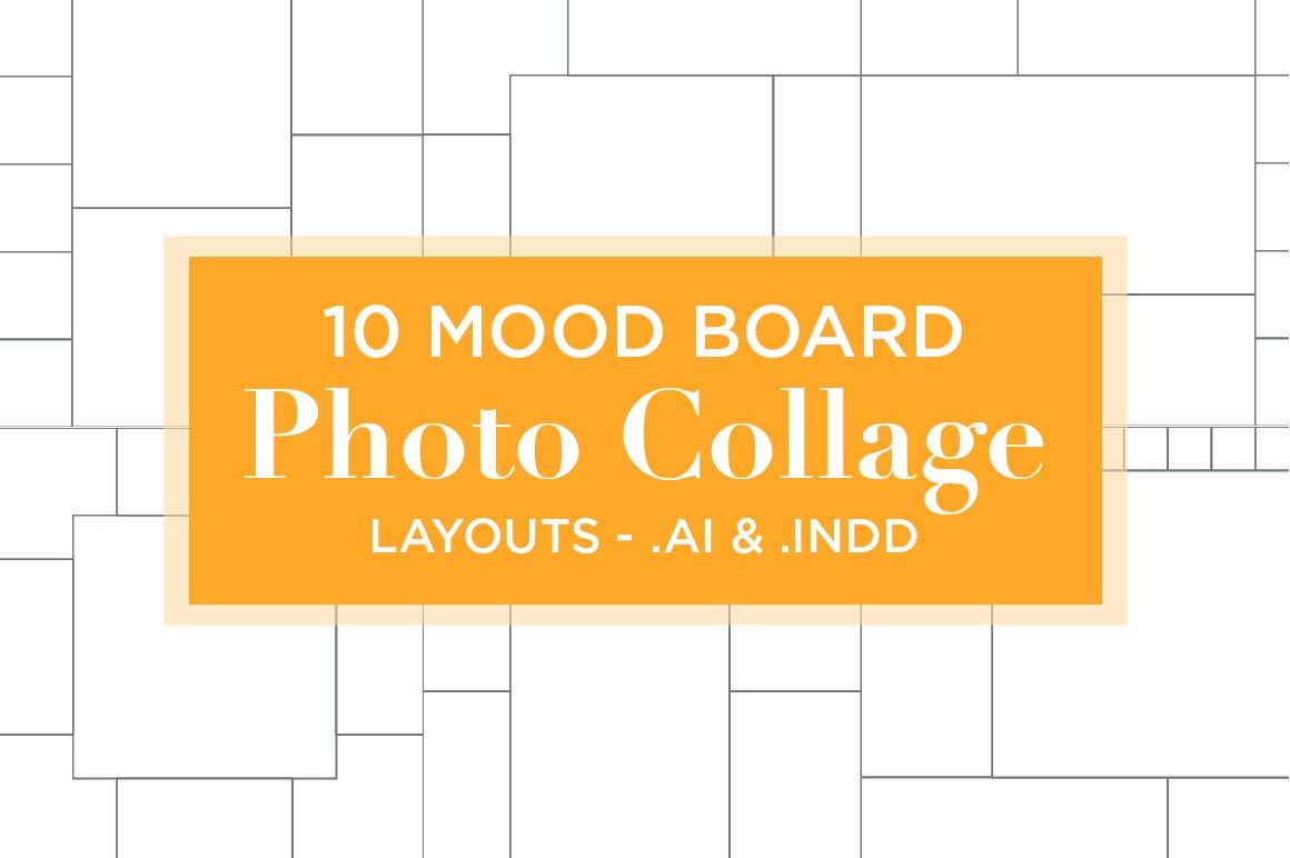 10 Mood Board Photo Collage Layouts ~ Presentation Templates ...