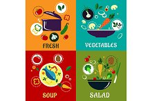Cooking concept with vegetables and