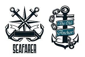 Seafarer marine heraldic emblem and