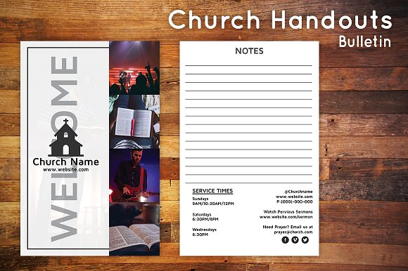 church bulletin connect card flyer flyer templates creative market
