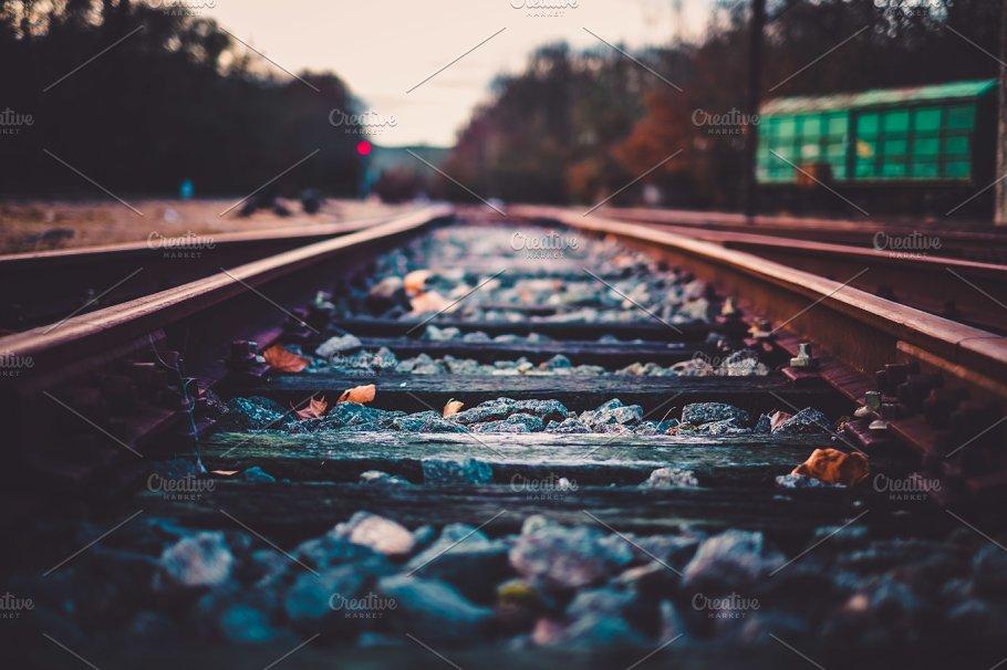 train tracks transportation photos creative market pro