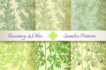 Rosemary & Olive. Set of 6 Patterns