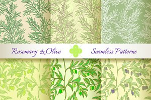 Rosemary & Olive. Set of 6 Patterns