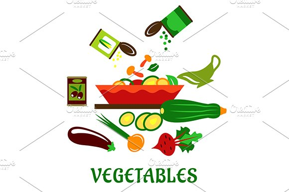 Salad bowl with fresh chopped vegeta