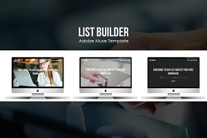List Builder Muse Marketing Template