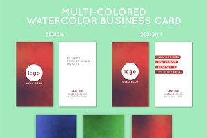 Multi-Colored Business Card