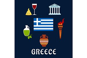Traditional Greece symbols and cultu