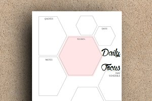 Daily Planner-Printable Two A5 - 001