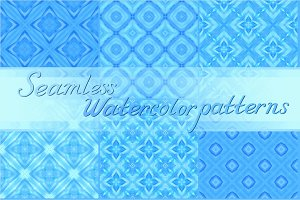 20 blue watercolor textures