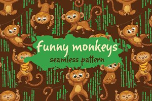 Funny monkeys pattern