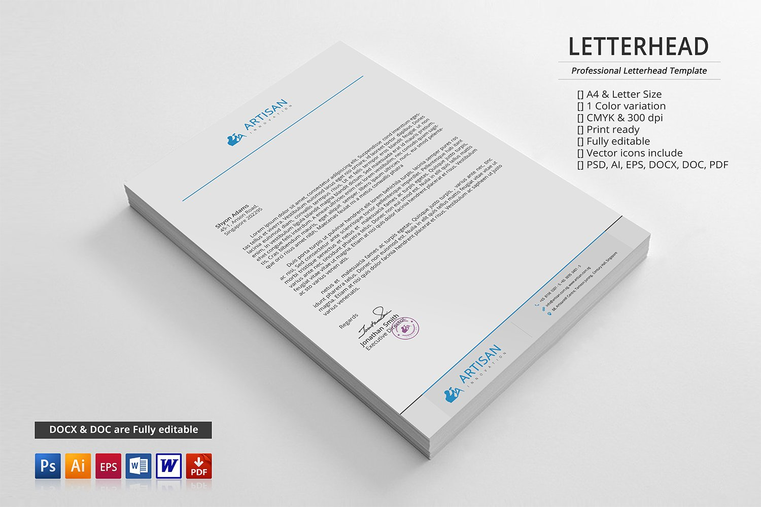 Corporate letterhead stationery templates creative market spiritdancerdesigns Choice Image