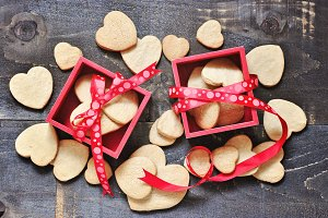 Shortbread cookies - hearts